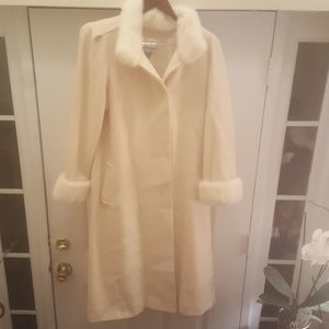 Marvin Richards Cashmere Coat USA with Mink trim